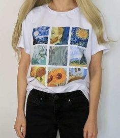 Hot Offer Hillbilly Women's Fashion Plus Size Tees & Tops Short Sleeve Modal Casual Female T-shirts White Van Gogh Painting T Shirts Gift Hipster Grunge, Soft Grunge, Grunge Style, Style Tumblr, Plus Size Tees, Fashion Outfits, Womens Fashion, Fashion Tips, Fashion Clothes