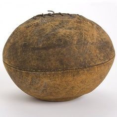 This is the oldest football in our collection. It is believed to have been used in the mid-1890s. It was on this day (Nov. 6) in 1869 that #Rutgers and #Princeton played a college soccer football game, the first ever. During the next seven years, rugby became popular with major eastern schools over soccer and modern football began to develop