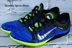 Mens Nike Zoom Victory XC 3 Cross Country Track Spikes Size 11.5 Blue/Green #Nike #XCCrossCountrySpikes