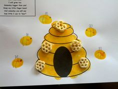 Bee Fingerprint Craft - Pinned by @PediaStaff – Please Visit ht.ly/63sNtfor all our pediatric therapy pins