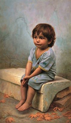 All Alone With Nowhere To Call Home~ Iman Maleki 1976 ~ Iranian Realist painter Painting For Kids, Painting & Drawing, Art For Kids, Boy Drawing, Watercolor Painting, Portrait Art, Portraits, Art Texture, Iranian Art