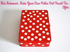 Mini Makeover: Make Your Own Polka Dot Travel Tin | Style for a Happy Home