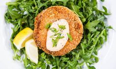 Home & Family - Recipes - Cristina Cooks: Salmon Cakes with Spicy Mayonnaise | Hallmark Channel