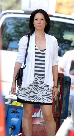 lucy lu in elementary | LUCY LIU on the Set of Elementary in New York - HawtCelebs