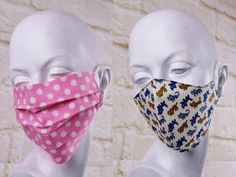 "Dust - mouth protection: two variants for a colorful dust protection for the face: washable and sustainable! - You can choose between two versions: the classic ""Stripe"" model with pleats or the ""Mask"" m - Mascarilla Diy, Sewing Crafts, Sewing Projects, Diy Accessoires, Homemade Mask, Single Crochet, Lana, Handmade Gifts, Handmade Headbands"