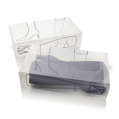 Set of 2 Illustrated Boot Boxes  | Crate and Barrel