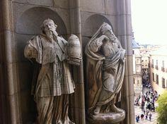 En las alturas de la Catedral de Toledo.