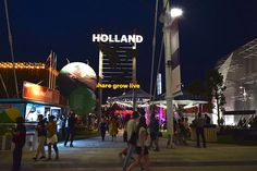 Holland pavilion by night at Expo Milan 2015 #raiexpo #expo2015 #italy #milan #worldsfair #architecture #holland #pavilion