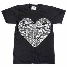 Love Birds Black Tee by BabesnGents on Etsy // www.etsy.com/ca/listing/216517099/love-birds-black-tee