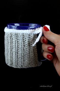 Kubraczek\ocieplacz na kubek (crochet)