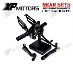 91.99$  Watch here - http://alimah.worldwells.pw/go.php?t=32601434246 - New Black Racing CNC Foot pegs Adjustable  Foot rest Rear Sets For Ducati 749 749R 749S 749 Dark 2003 2004 2005 2006