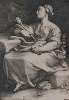 °Thalia (from The Nine Muses) - Hendrick Goltzius - @LauChansArt