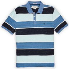 #FashionVault #perry ellis #Men #Tops - Check this : Original Penguin HEATHERED WIDE STRIPE POLO for $27.99 USD
