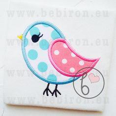 Bird Applique Design Machine Embroidery Pattern Instant Download