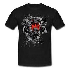 Batman Dark Logo Rot T-Shirt für Männer