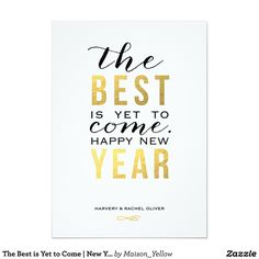 The Best is Yet to Come   New Year Photo Card