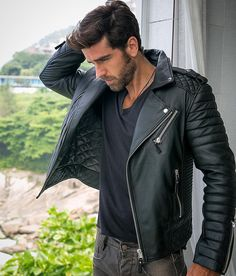 @marcospitombo Kay Michaels. Oil Black #bodaskins #leather #style
