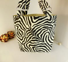 Tote Bag Beach Bag Grocery Shopping Bag  Zebra by tillnextwinter, $36.50