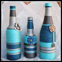 Turquoise and Grey Set