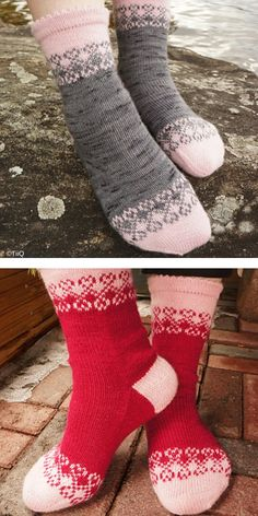 Everyone needs sometimes a relaxing weekend at home, with a cosy blanket, socks and their favourite movie or series. That's why today we'll show you some Knitted Socks Free Pattern, Fair Isle Knitting Patterns, Crochet Socks, Mittens Pattern, Knitted Slippers, Crochet Clothes, Sock Knitting, Knitting Machine, Free Knitting