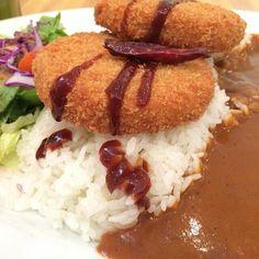 Tofu katsu curry rice.