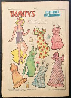 1974 UK Bunty Weekly Comic Book w/ Paper Dolls, #875