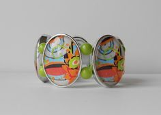 Colorful Abstract Bracelet by alainndesign on Etsy, $28.00
