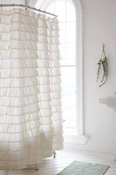Waterfall Ruffle Shower Curtain - Urban Outfitters