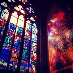 Reflection of light in Prague Castle #travel. On my list of cities to visit.