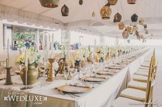 WedLuxe: #wedding decor + floral design by Melissa Andre Events