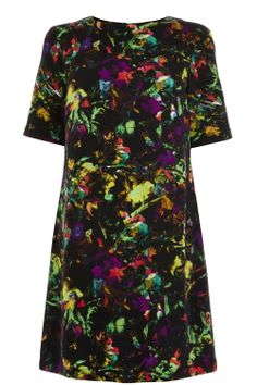 Dresses | Multi Tropical Fluro Print Shift | Warehouse