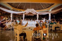Grand Palladium Riviera Maya Private Dinner Reception At Laguna Pure Paradise In White