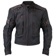 Mens-Black-Vulcan-vtz-910-Street-Racer-Premium-Leather-Motorcycle-Biker-Jacket
