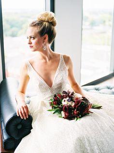 Posy - Henry Photography - Columbus Ohio - burgundy marsala jewel tone bouquet wedding