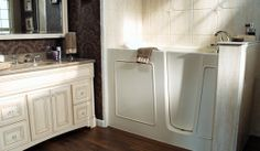 San francisco cabinets custom cabinetry furniture from design studio Bathroom Safety, Diy Bathroom, Bathroom Fixtures, Bathrooms, Bathroom Remodeling, Walk In Tubs, Walk In Bathtub, Diy Inspiration, Layout