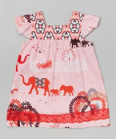 Look at this Sweet Petunia Pink & Red Sophie Dress - Toddler & Girls on #zulily today!