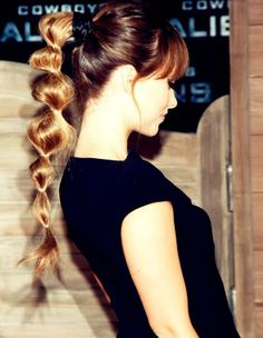 Bubble Pony Tail- A will do for when my hair get long enough