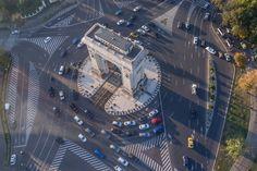 Bucharest by Alex Galmeanu. Bucharest Romania, Wonderful Places, Times Square, Arch, Europe, Urban, Country, Travel, Beautiful