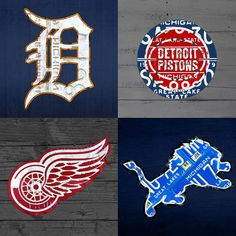 Detroit Metal Print featuring the mixed media Detroit Sports Fan Recycled Vintage Michigan License Plate Art Tigers Pistons Red Wings Lions by Design Turnpike Detroit Lions Football, Detroit Sports, Sports Teams, Detroit Tigers, Usa Sports, Football Art, Cincinnati Bengals, Indianapolis Colts, Detroit Art