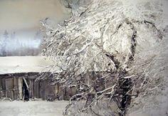 Акварель. Зимние пейзажи Ларс Лерин