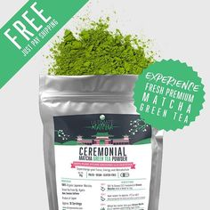 FREE - Just Pay Shipping. Limited Offer. Experience Smooth Sweet 100% Organic Uji Matcha  Ground Fresh On Demand in Japan  Unlock the INCREDIBLE Health Benefits of Quality Matcha Green Tea....For FREE!  #matcha #matchagreentea #premiumquality #premiummatcha #vegan #organic #livewell #health