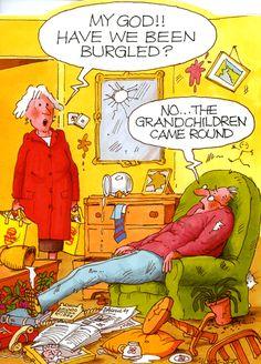The Grandchildren Were Here quotes quote family quote family quotes funny quotes grandparents humor grandma grandmom grandchildren! My kids so do this! Funny Greetings, Funny Greeting Cards, Funny Cards, Grands Parents, Grandchildren, Grandkids, Hilarious, Funny Stuff, Cartoon Jokes