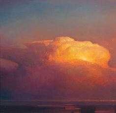 """Rather than using brushes to create fine blends in this """"soft"""" subject, Bowman uses a palette knife. """"The knife permits a stroke that is less influenced by the colors below,"""" he says, """"allowing me to mix colors on the canvas in a smoother way."""" http://www.bowmangallery.com/mbx/-1.9-0.0.pub_bio.htm"""