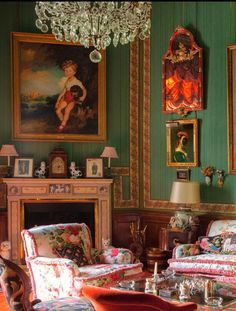 A lovely room decorated in southern style
