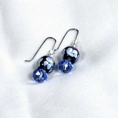 Simply Blue in handmade ear wires!!