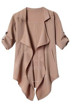 Long Sleeve Solid Color Trench Coat CAMEL: Jackets & Coats | ZAFUL