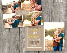 Christmas Card Template - Holiday Photo Card for Photographers - Christmas Photo Template - CC13