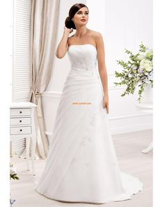 Kirche trägerloser Ausschnitt Reißverschluss Brautkleider 2014
