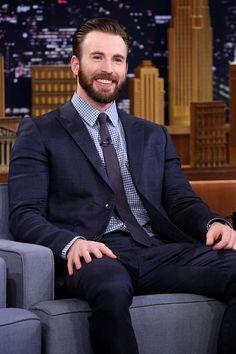 Actor Chris Evans on April 23 2015
