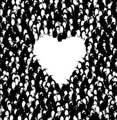 Pablo Amargo Ilustración - Reverse penguin heart